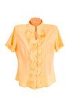 stilfull vit yellow för blus Royaltyfria Bilder