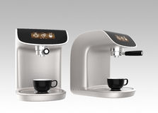 Stilfulla kaffemaskiner med pekskärmen Royaltyfri Fotografi