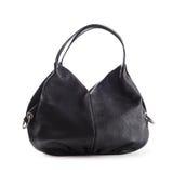 Stilfulla kvinnors handväska i svart Arkivbild