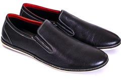Stilfulla skor för läder för man` s Royaltyfri Bild