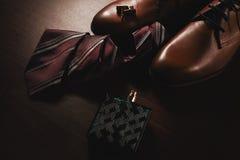 Stilfulla skor med bandet och doft Fotografering för Bildbyråer