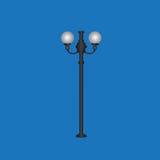 Stilfulla stadslampor Arkivfoto
