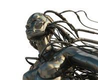 stilfullt cyborgstål vektor illustrationer