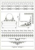 Stilfullt gammalt, tappningdesignbeståndsdelar Royaltyfria Bilder