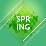 Stilfullt isolerat vårbaner Grön lövverkbakgrund Arkivbilder