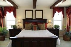 stilfullt sovrum Arkivbild