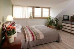 stilfullt sovrum Royaltyfri Bild