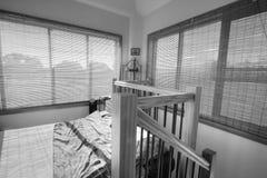 stilfullt sovrumkonungformat Royaltyfri Fotografi