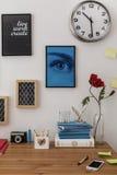 Stilfullt utrymme för att lära royaltyfri foto