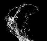 stilfullt vatten för färgstänk Fotografering för Bildbyråer