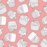 4 stili del bigné casuali su fondo rosa Fotografia Stock Libera da Diritti