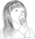Stili del gelato Fotografia Stock