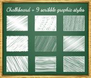 Stili del grafico dello scarabocchio Fotografie Stock