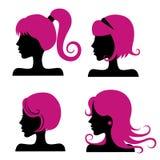 Stili di capelli Fotografie Stock Libere da Diritti