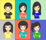 Stili di capelli Immagini Stock