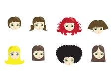 Stili di capelli royalty illustrazione gratis