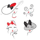 Stili di capelli della donna Immagini Stock