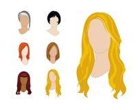 Stili di capelli fissati Fotografia Stock Libera da Diritti