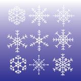 Stili eps10 dei fiocchi di neve Royalty Illustrazione gratis