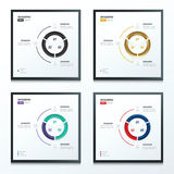 Stili infographic dell'insieme di colore del cerchio 2 4 Immagine Stock