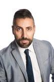 Stilig affärsman i grå färger Royaltyfria Foton