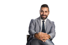 Stilig affärsman i grå färger Arkivfoton