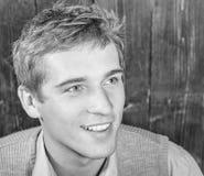 Stilig blond caucasian grabb Fotografering för Bildbyråer