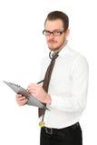 Stilig doktor med den bruna band- och vitskjortan Royaltyfri Foto