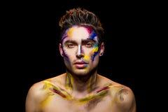 Stilig grabb, makeupkonst fotografering för bildbyråer