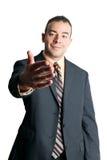 Stilig handskakning för affärsman arkivfoto
