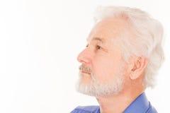 Stilig äldre man med skägget Arkivbild
