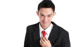 Stilig man som ler, asiatisk man Royaltyfri Fotografi