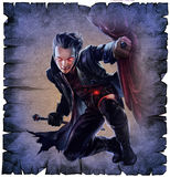 Stilig manlig vampyr royaltyfri illustrationer