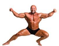 Stilig muskulös kroppsbyggare Royaltyfri Fotografi