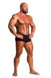 Stilig muskulös kroppsbyggare Fotografering för Bildbyråer
