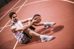 stilig spelare för basket arkivfoton