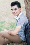 Stilig student royaltyfri foto