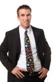 stilig tie för manskolalärare royaltyfria foton