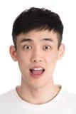 Stilig ung asia man - som isoleras över en vit bakgrund Royaltyfria Foton
