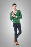 Stilig ung asiatisk man royaltyfri foto