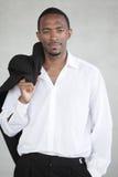 Stilig ung svart affärsman royaltyfri bild