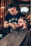 Stiligt ansa för barberaredanandeskägg arkivfoto