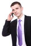 stiligt användande barn för affärsmanmobiltelefon royaltyfria bilder