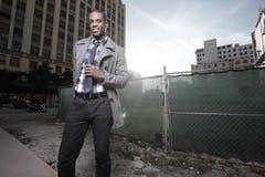 stiligt manbarn för svart stad fotografering för bildbyråer