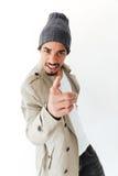 Stiligt ungt afrikanskt peka för man Arkivfoto