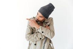Stiligt ungt afrikanskt peka för man Fotografering för Bildbyråer