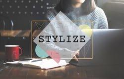 Stilisera begreppet för trender för hipsteren för gruppdesignen det eleganta Royaltyfria Bilder