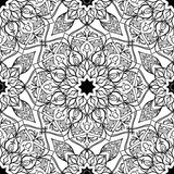 Stiliserad blom- orientalisk modell Arkivfoto