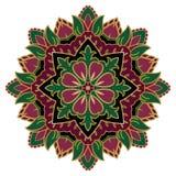 Stiliserad blom- prydnad Royaltyfri Foto
