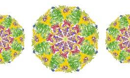 Stiliserad blom- sömlös modell för ram - bukett för inbjudan Royaltyfria Bilder